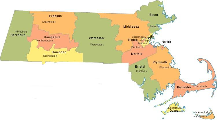 Best Auto Insurance In Massachusetts Affordable Car Quotes: State Map Massachusetts At Codeve.org